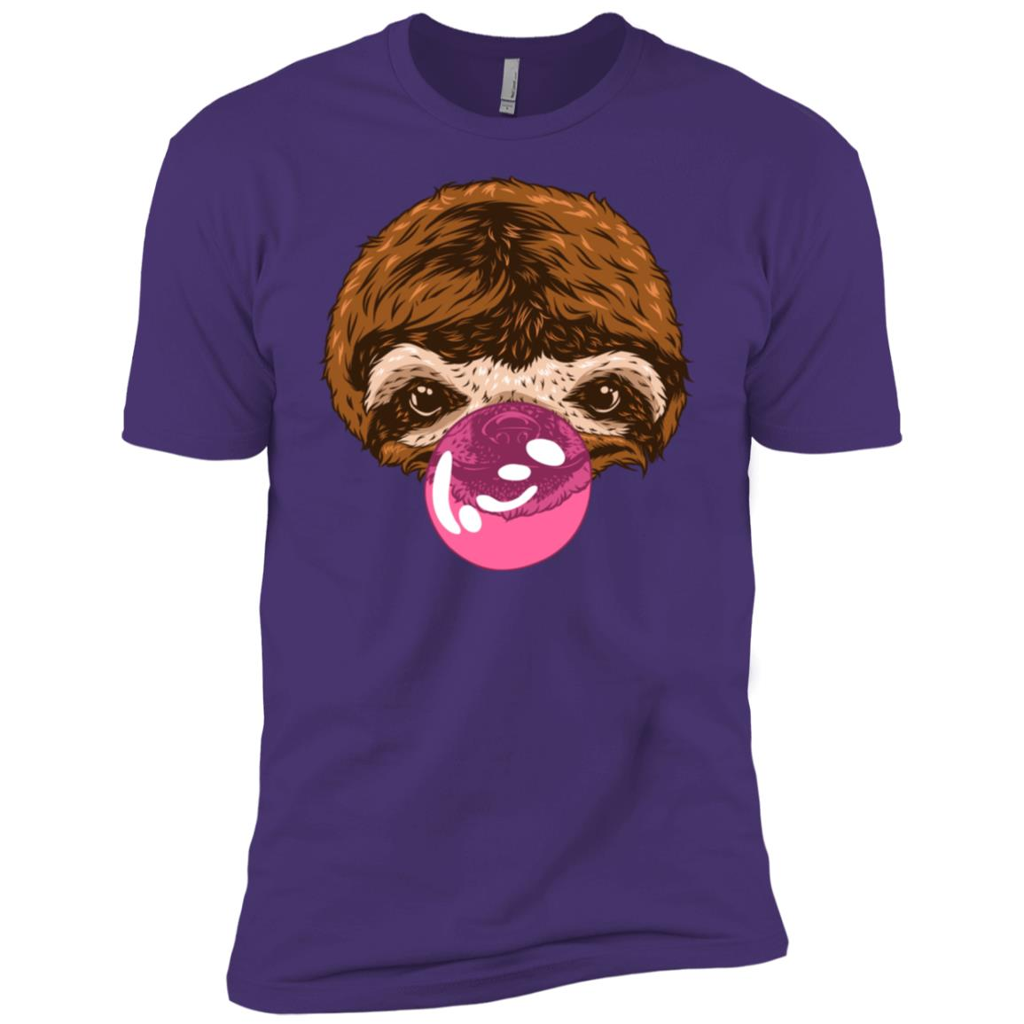 Sloth Blowing Bubble Gum Cool Funny Sloth Men Short Sleeve T-Shirt