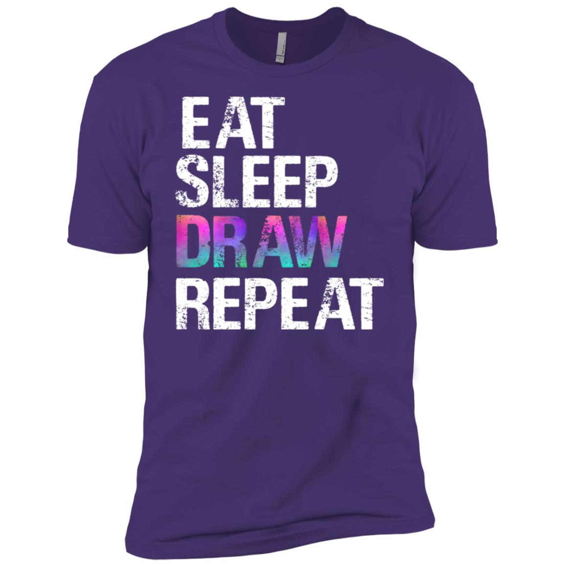 Eat Sleep Draw Repeat Artist Drawing Christmas Gift Men Short Sleeve T-Shirt