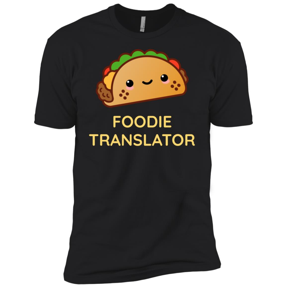 Cute Taco Foodie Translator for Gourmets Men Short Sleeve T-Shirt