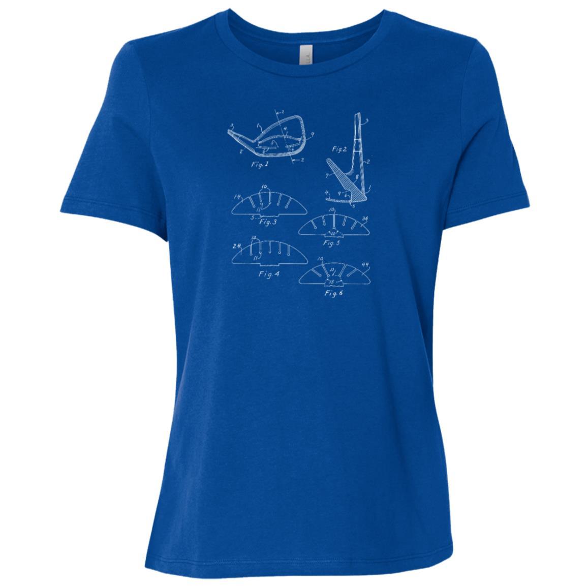 Golf Club Vintage Patent Drawing Funny Novelty -2 Women Short Sleeve T-Shirt