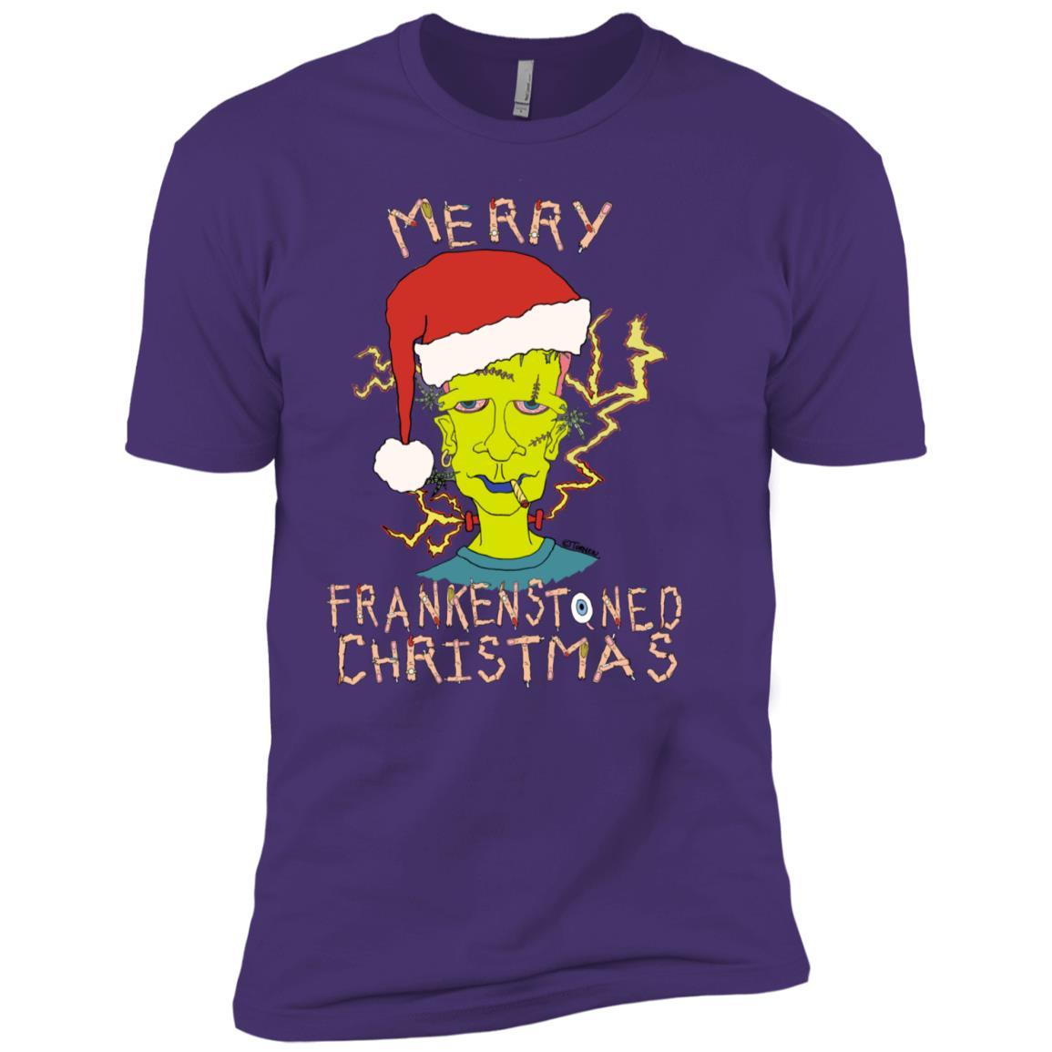 Merry Frankenstoned Christmas Men Short Sleeve T-Shirt