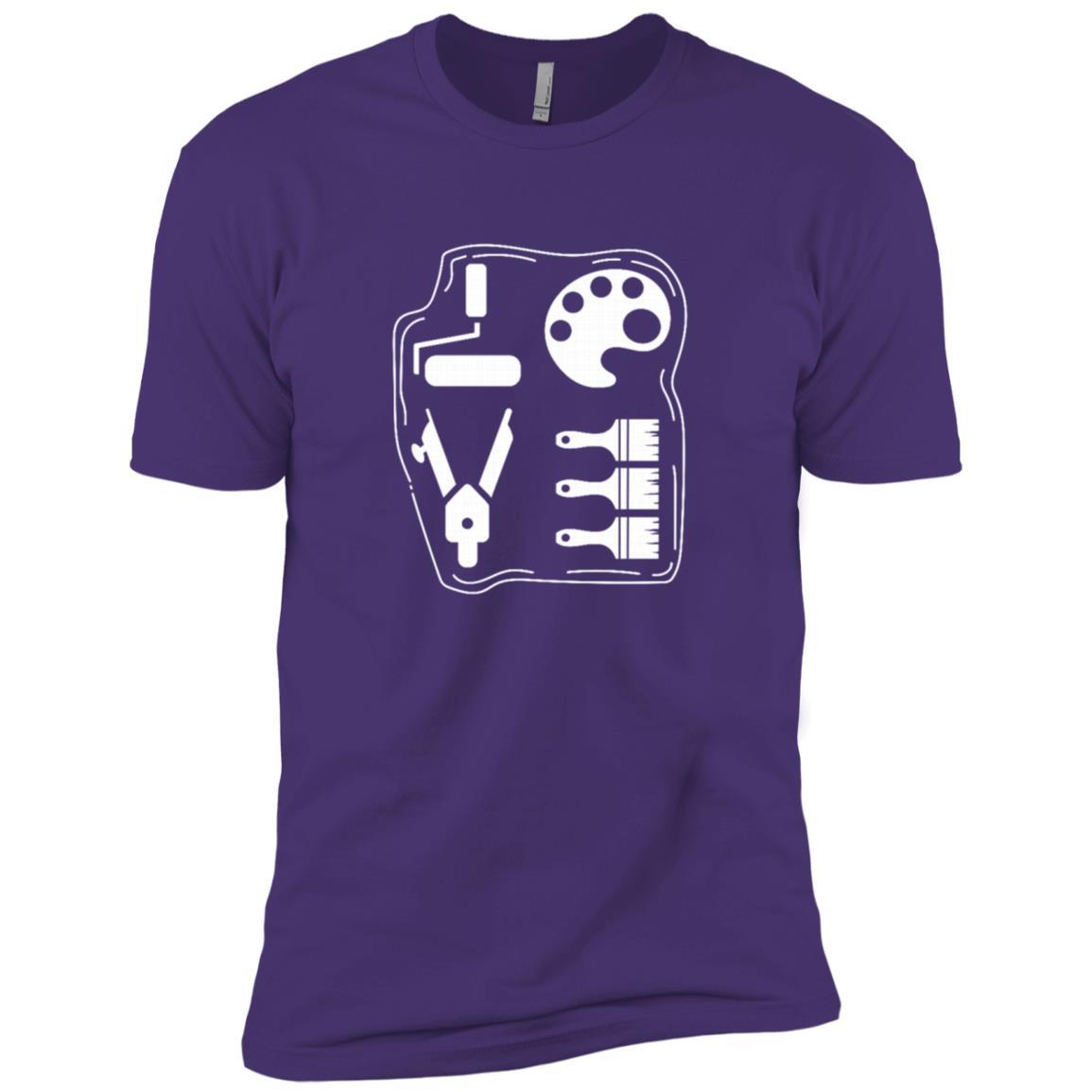 Love Art Tools Artist Creative Painter Funny Gift Men Short Sleeve T-Shirt