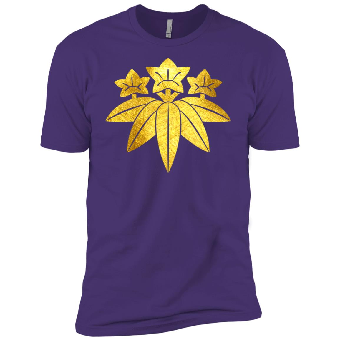 Kamakura Minamoto Mon Japanese clan in faux gold Men Short Sleeve T-Shirt