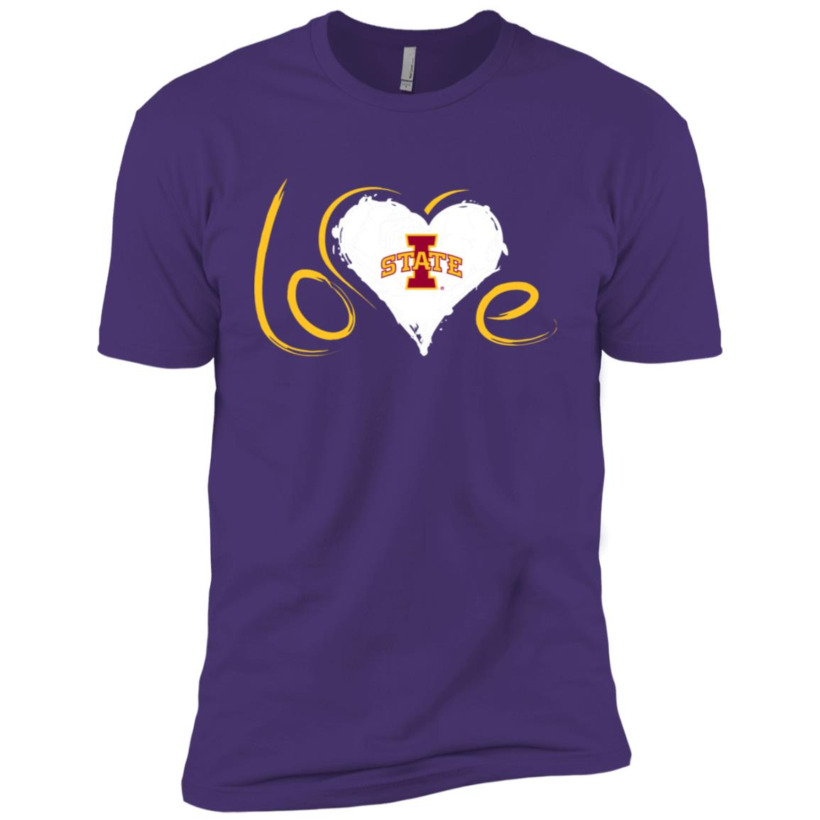 Iowa State Cyclones Drawing Love Men Short Sleeve T-Shirt