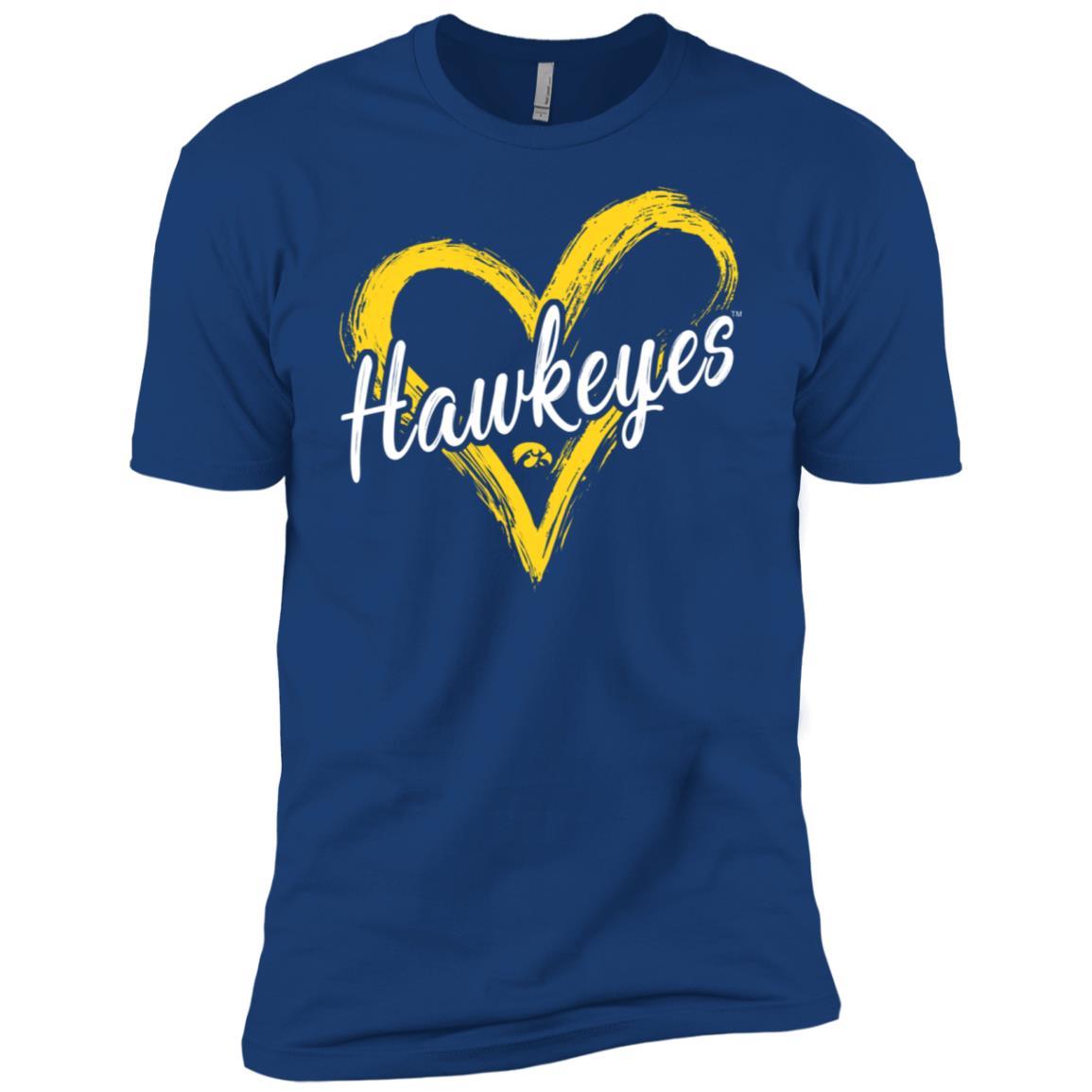 Iowa Hawkeyes Drawing Heart – Men Short Sleeve T-Shirt