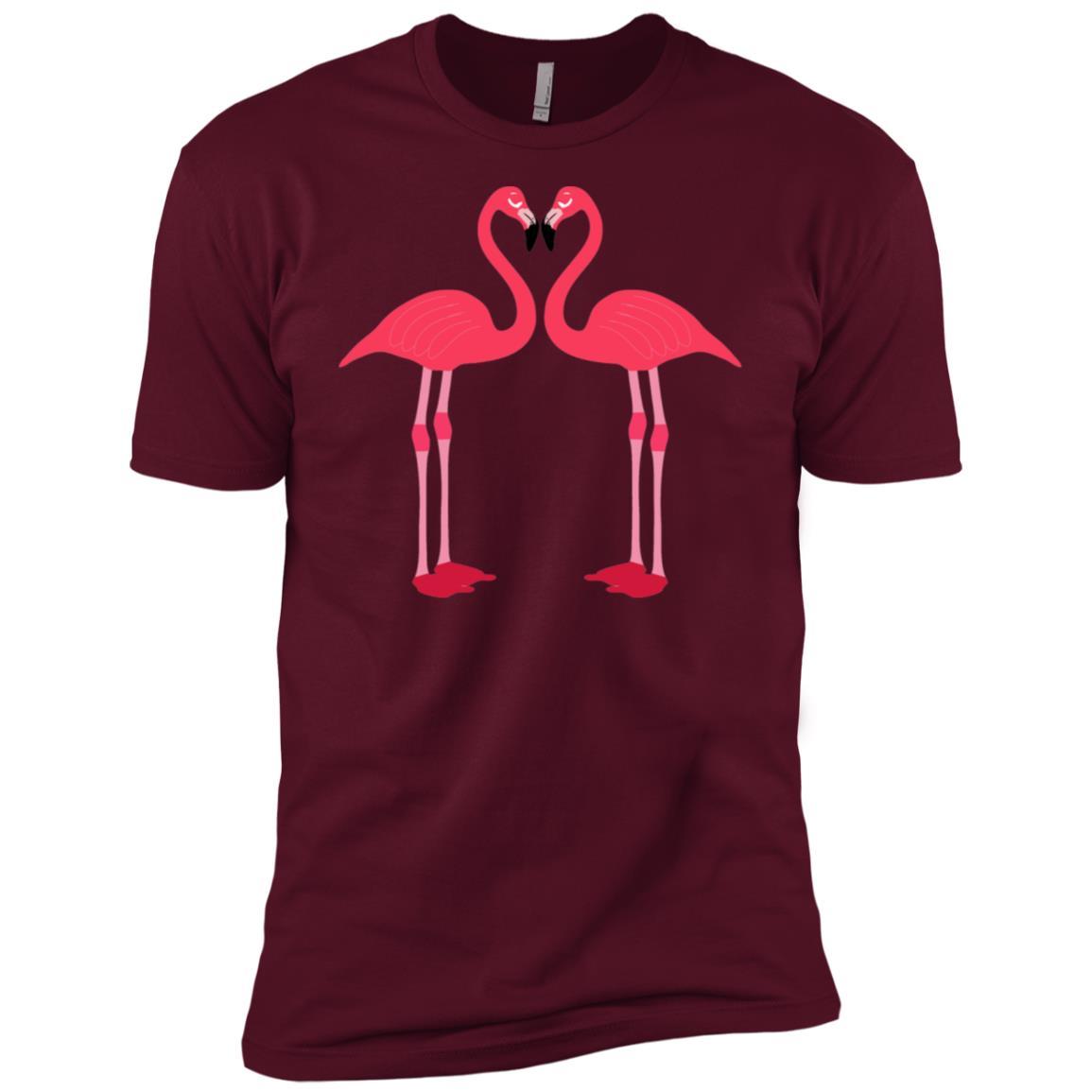 Pink Flamingo Bird Artistic Cute Adorable Animal Men Short Sleeve T-Shirt
