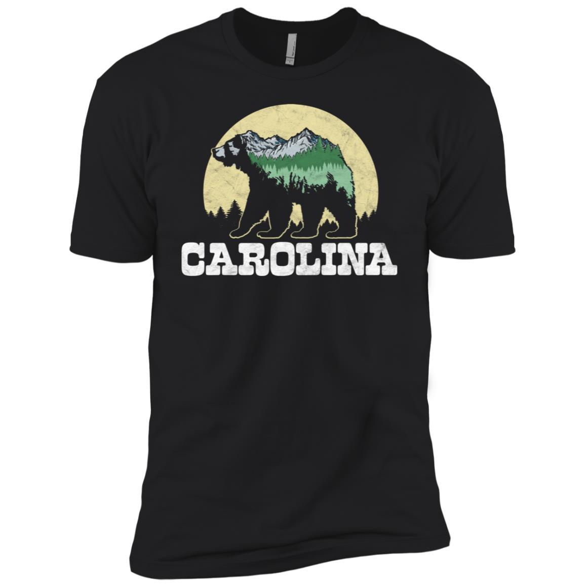 North Carolina Bear Sketch Mountains & Trees Tee Men Short Sleeve T-Shirt