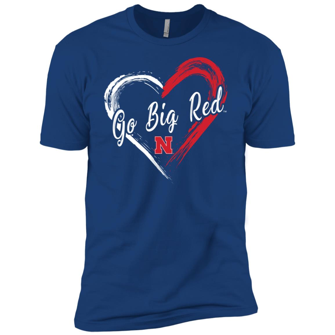Nebraska Cornhuskers Drawing Heart -1 Men Short Sleeve T-Shirt