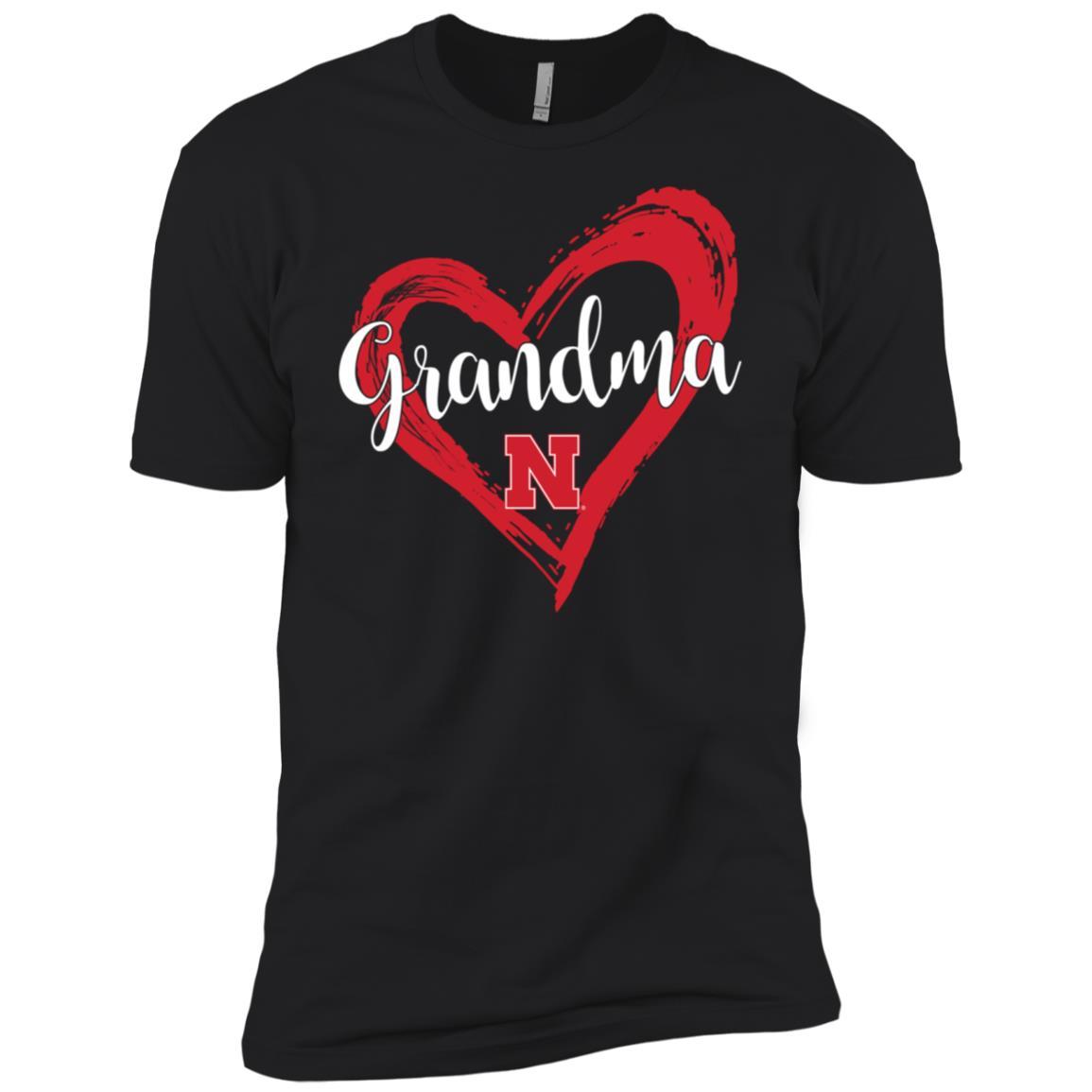 Nebraska Cornhuskers Drawing Heart – -1 Men Short Sleeve T-Shirt