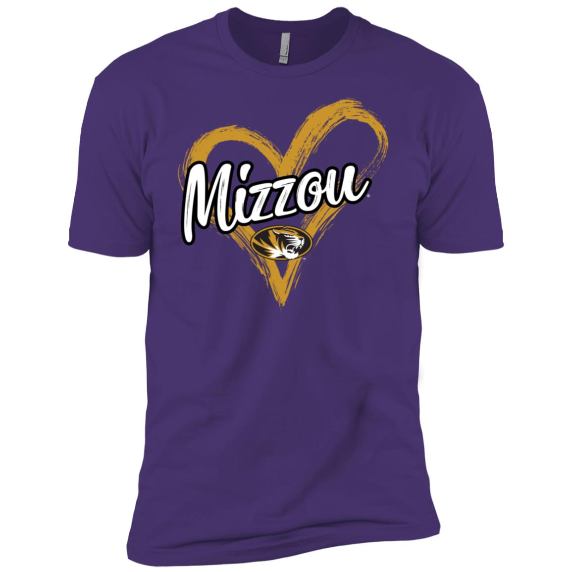 Mizzou Tigers Drawing Heart – -1 Men Short Sleeve T-Shirt