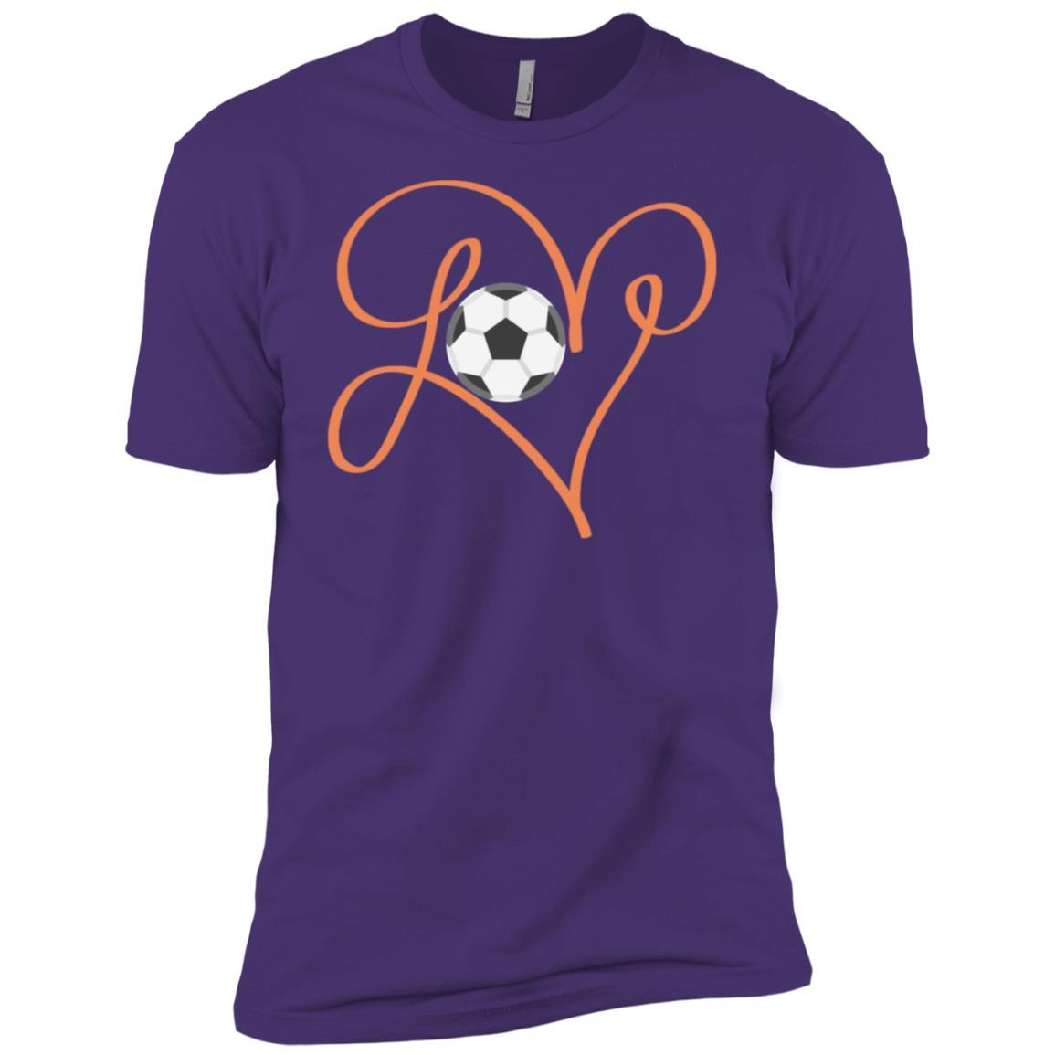 Love Soccer Hand Drawing Heart Men Short Sleeve T-Shirt