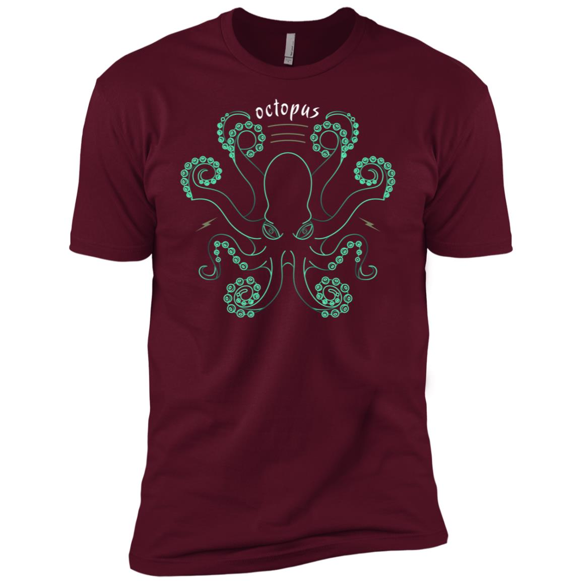 Ls Octopus Thin Line Drawing Tentacle Monster Men Short Sleeve T-Shirt