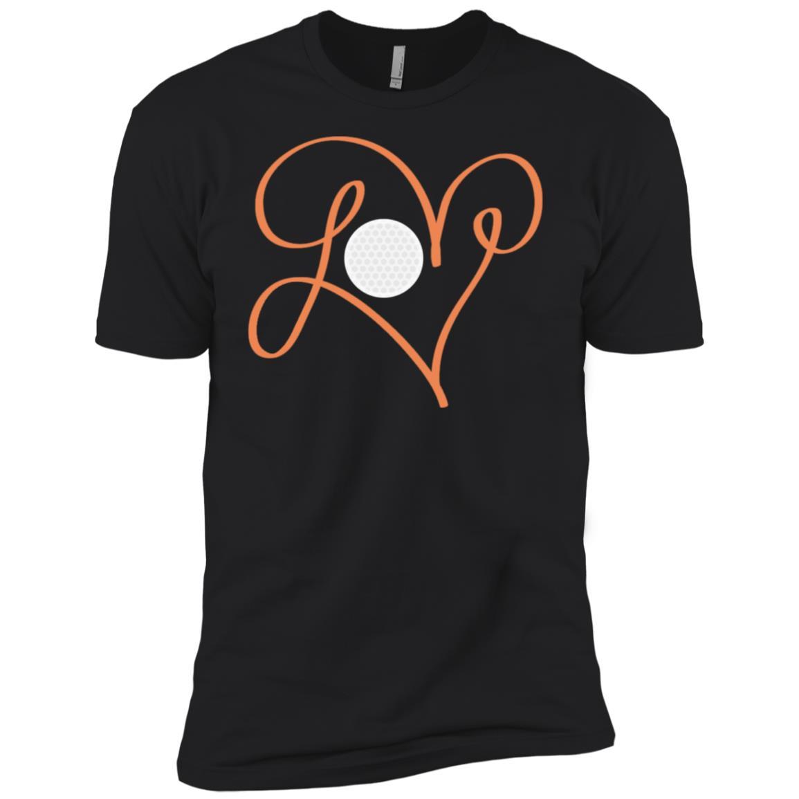 Love Golf Hand Drawing Heart Men Short Sleeve T-Shirt