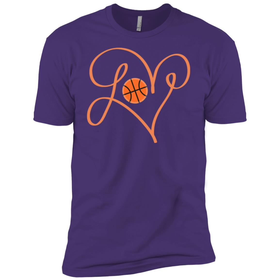 Love Basketball Hand Drawing Heart Men Short Sleeve T-Shirt