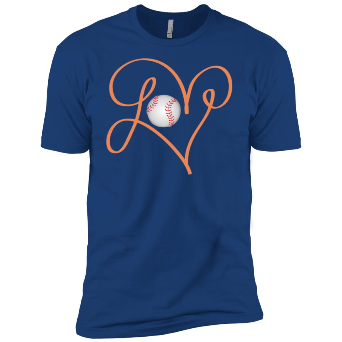 Love Baseball Hand Drawing Heart Men Short Sleeve T-Shirt
