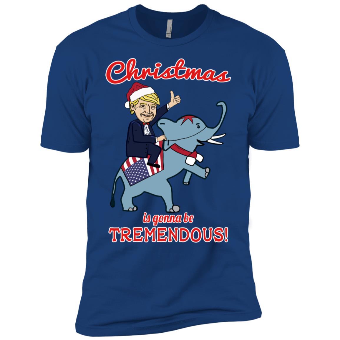 Christmas is Gonna Be Tremendous – Republican Elephant Men Short Sleeve T-Shirt