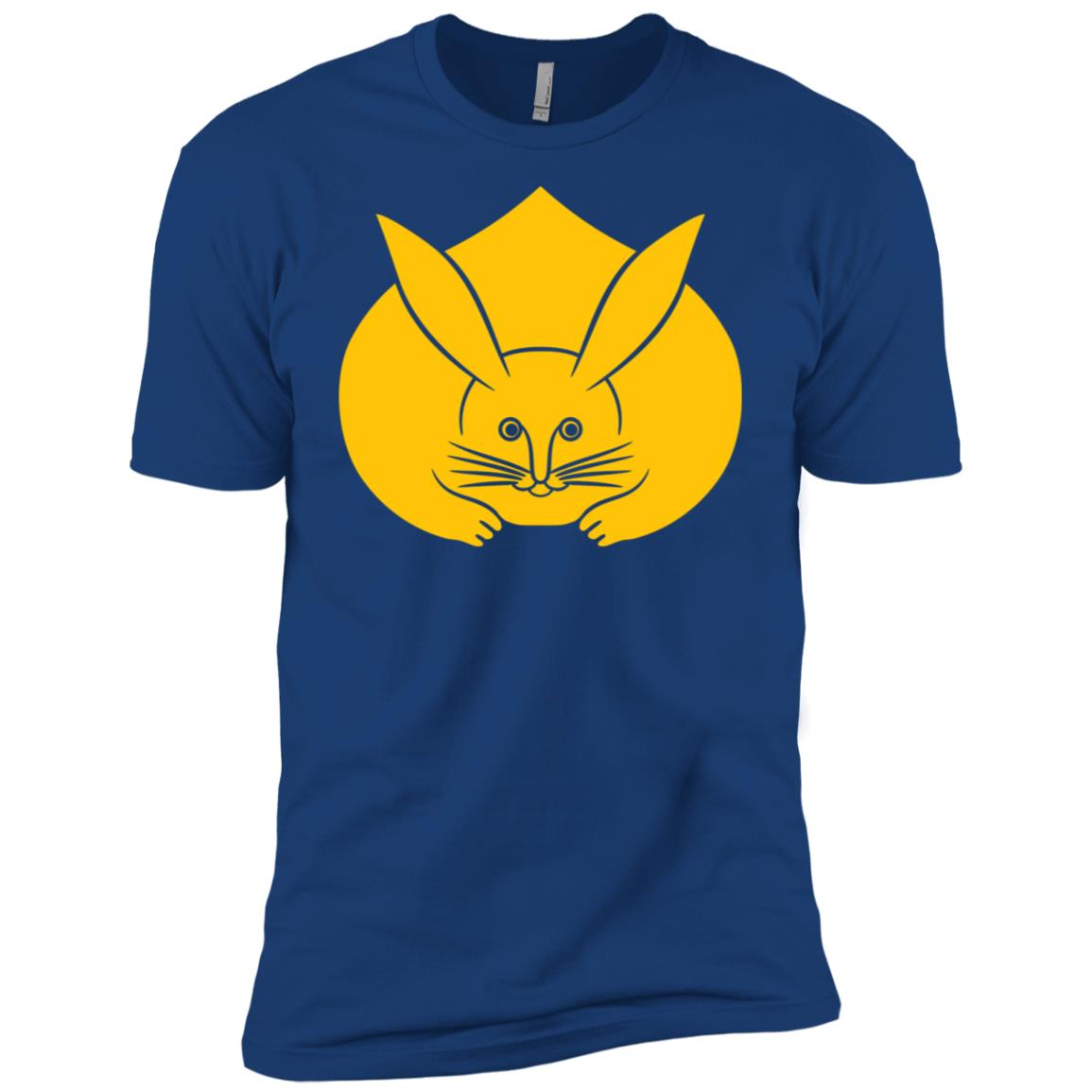 Usagi kamon Japanese rabbit in yellow Men Short Sleeve T-Shirt