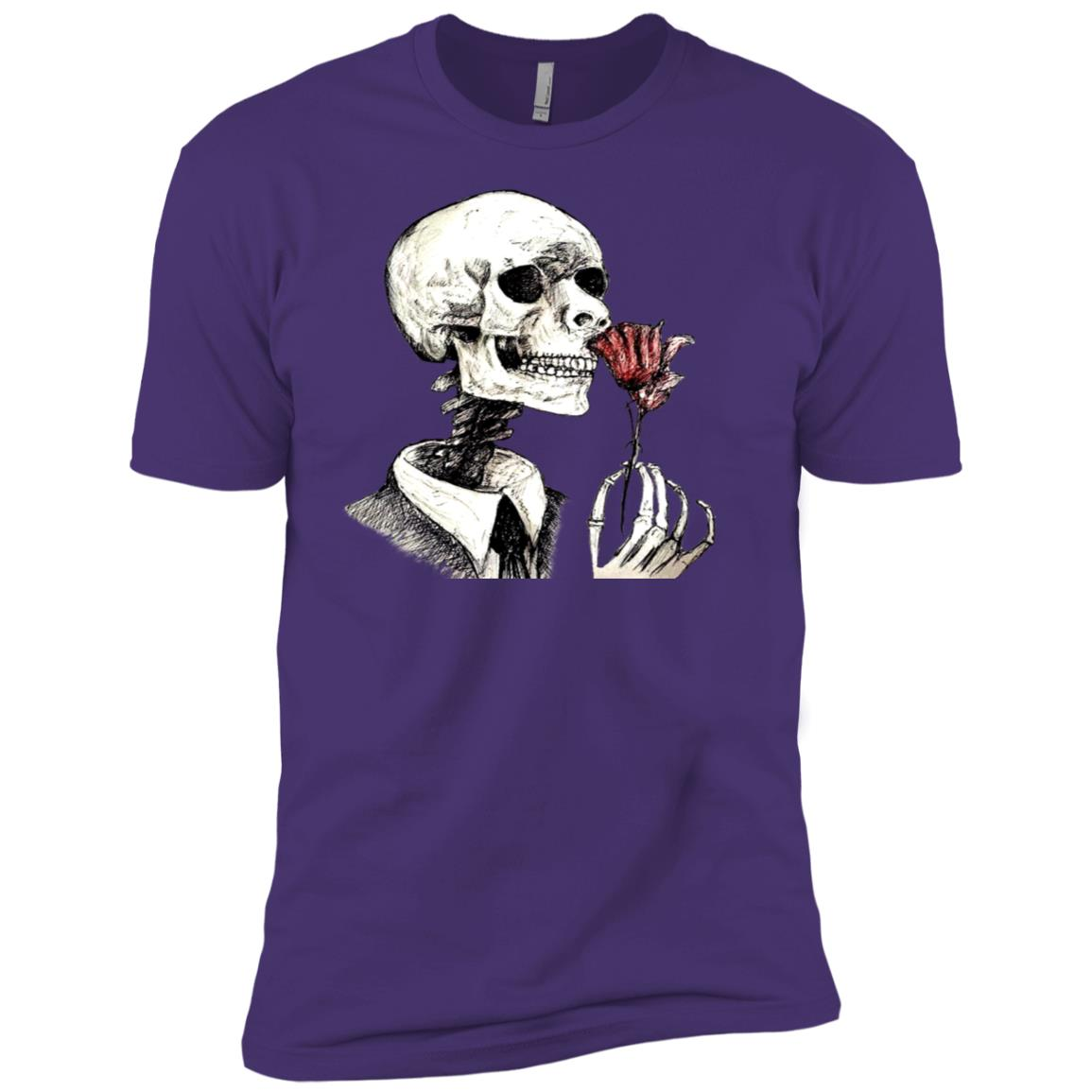 skull hand drawing,anniversary of Fiance and married couples Men Short Sleeve T-Shirt