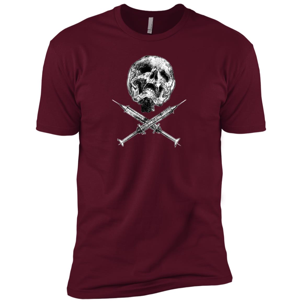 Skull and Syringes Men Short Sleeve T-Shirt