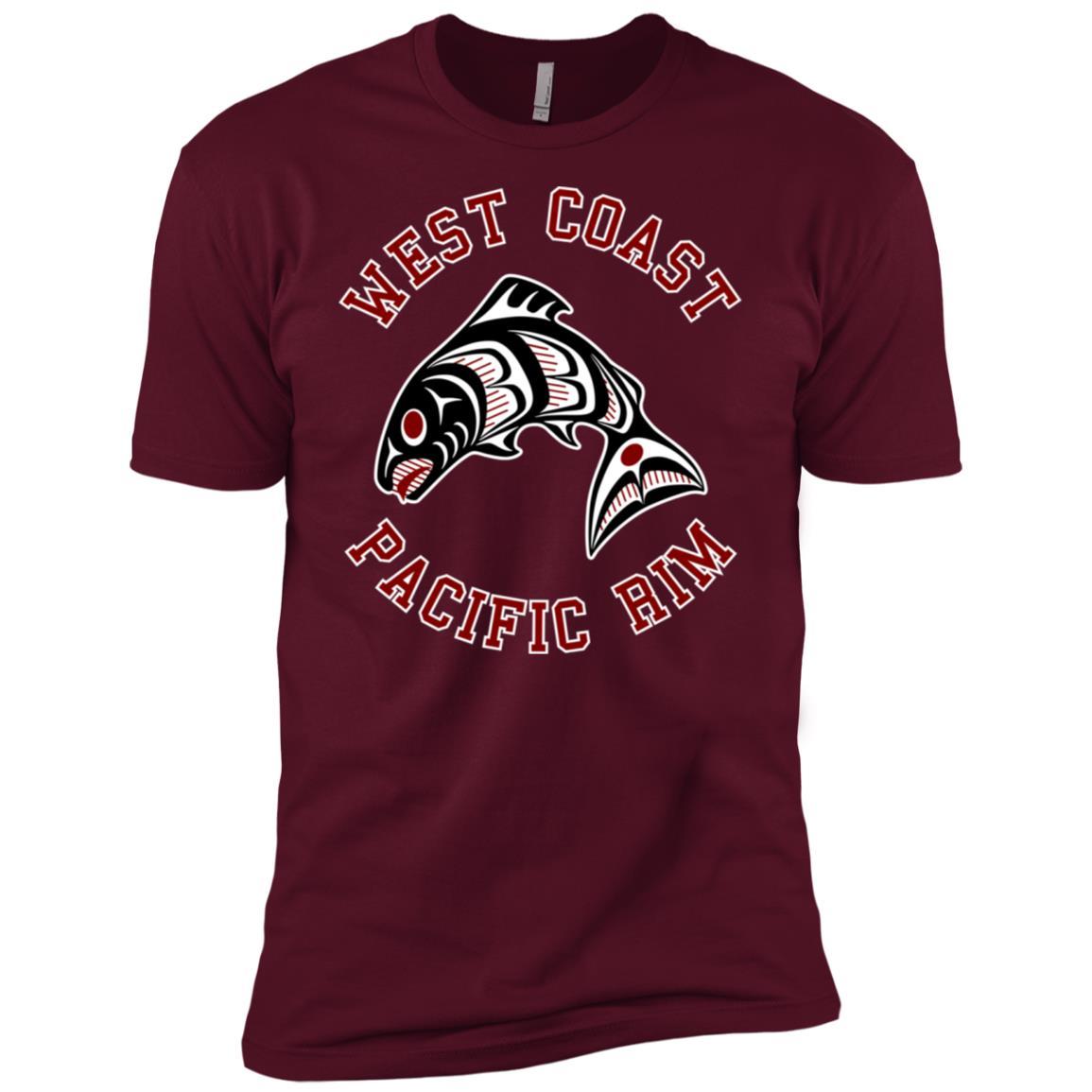 Northwest Pacific coast Haida Salmon Bc-1 Men Short Sleeve T-Shirt