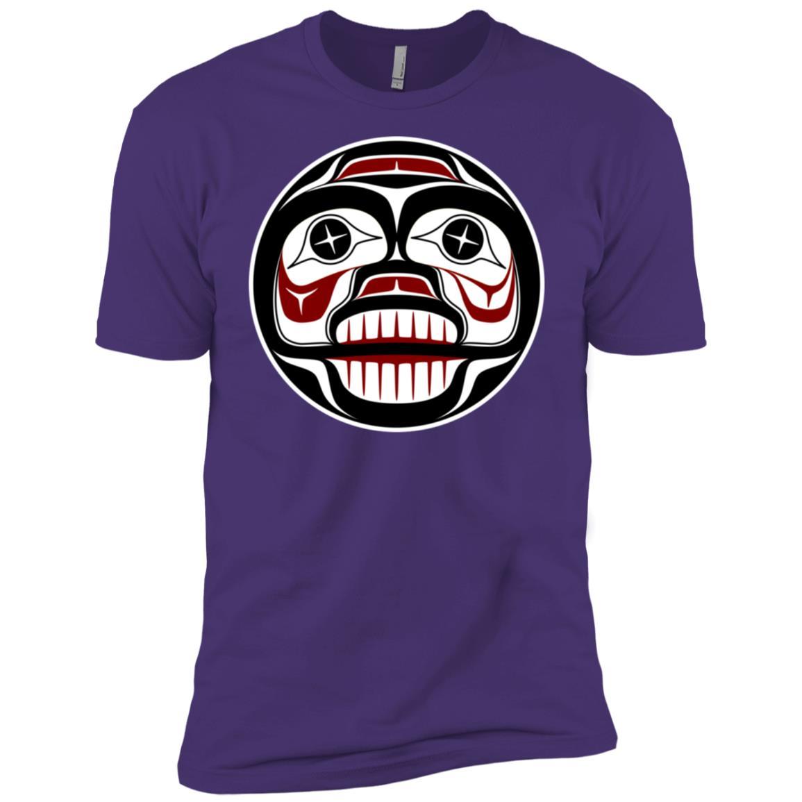 Northwest Pacific coast Haida art Weeping Skull Men Short Sleeve T-Shirt