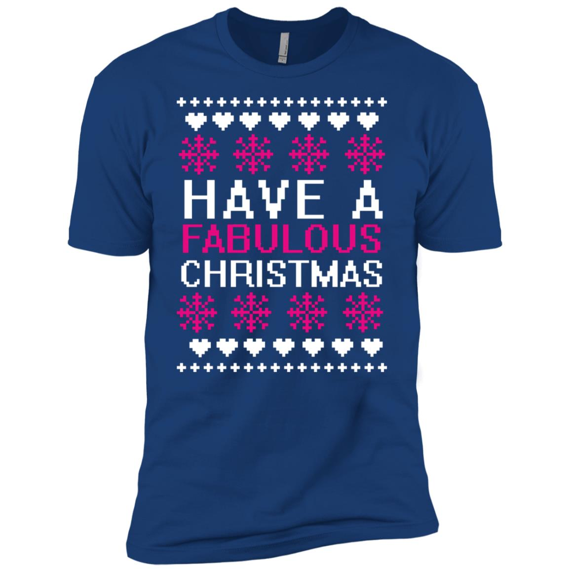 Have A Fabulous Christmas Classical Embroidery Art Men Short Sleeve T-Shirt