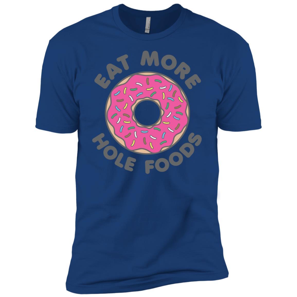 Eat More Hole Foods Donut Strawberry Sprinkles Men Short Sleeve T-Shirt
