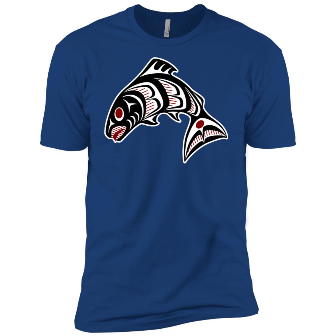 Northwest Pacific coast Haida Salmon Bc Men Short Sleeve T-Shirt