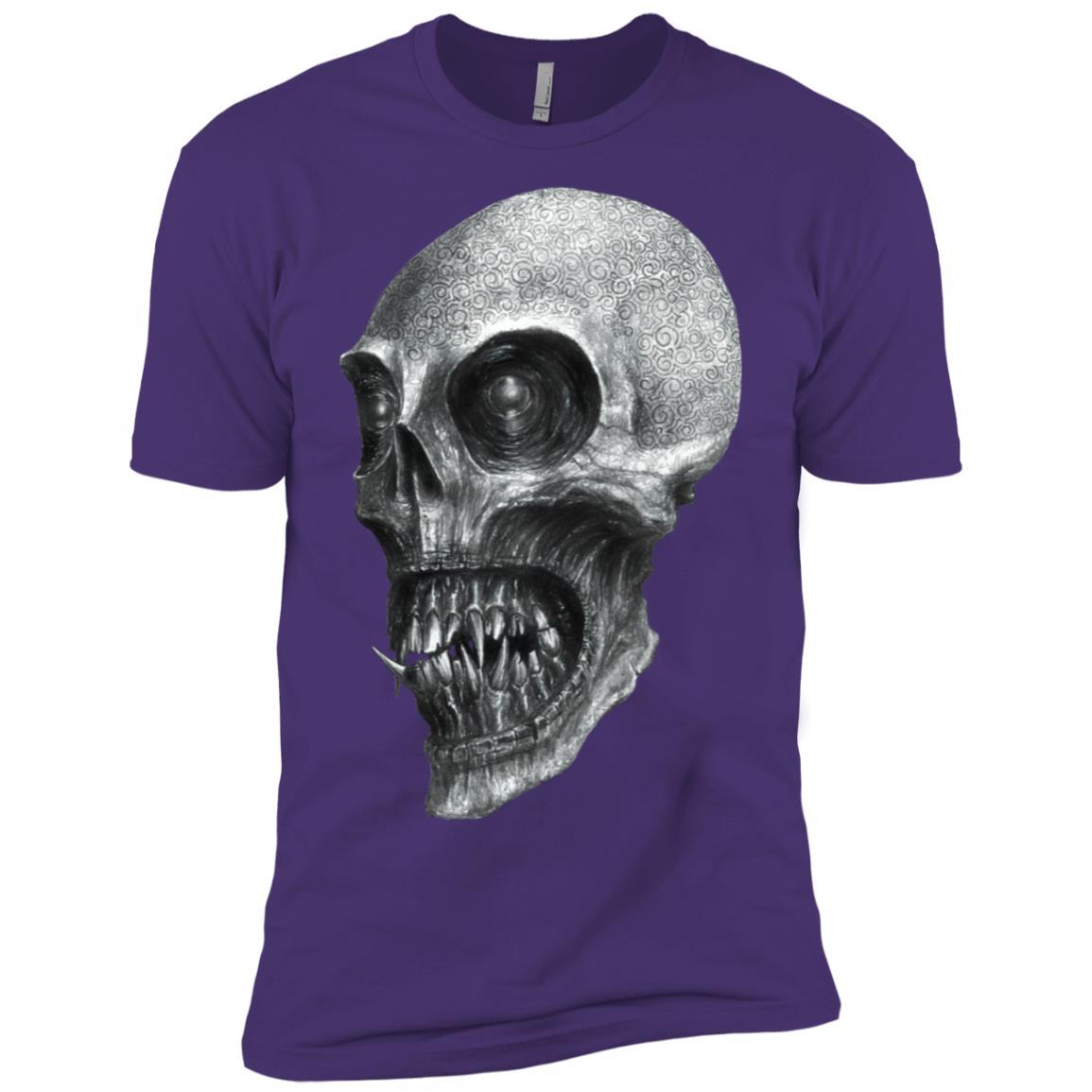 Biker Motorcycle Skull Demon Scary Evil Men Short Sleeve T-Shirt