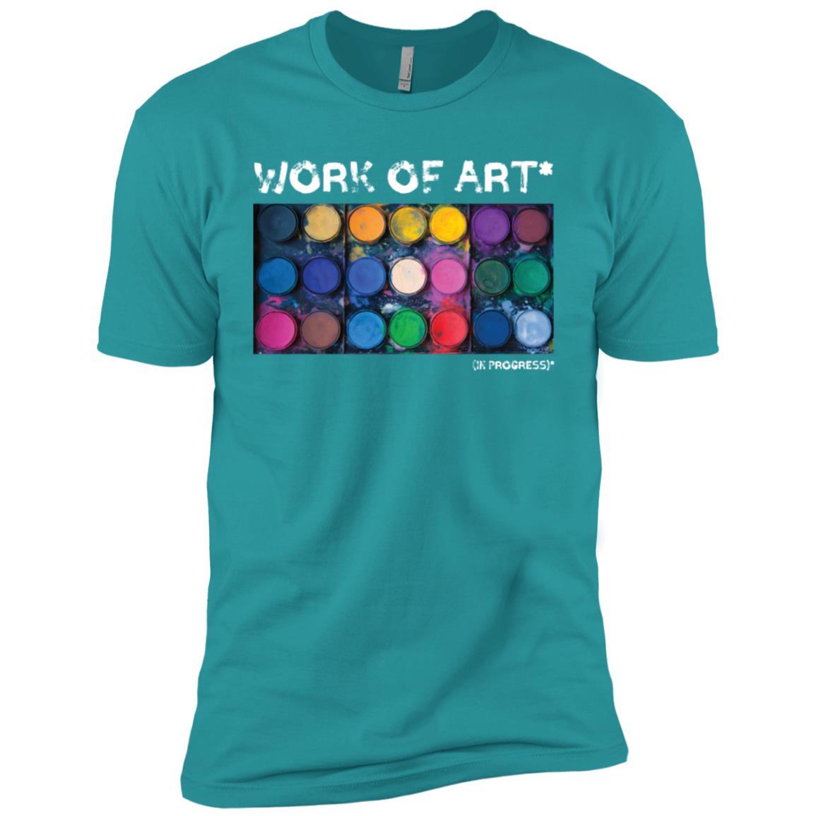 Work of Art in Progress Perfect Artist Gift Men Short Sleeve T-Shirt