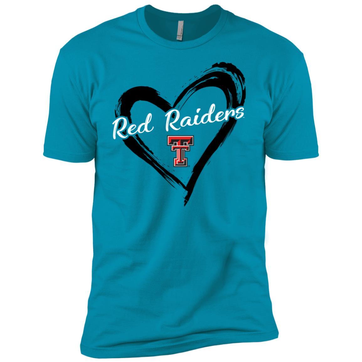 Texas Tech Red Raiders Drawing Heart Men Short Sleeve T-Shirt