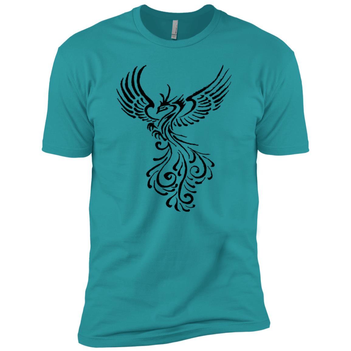 Rebirth Phoenix Tribal Tattoo Men Short Sleeve T-Shirt