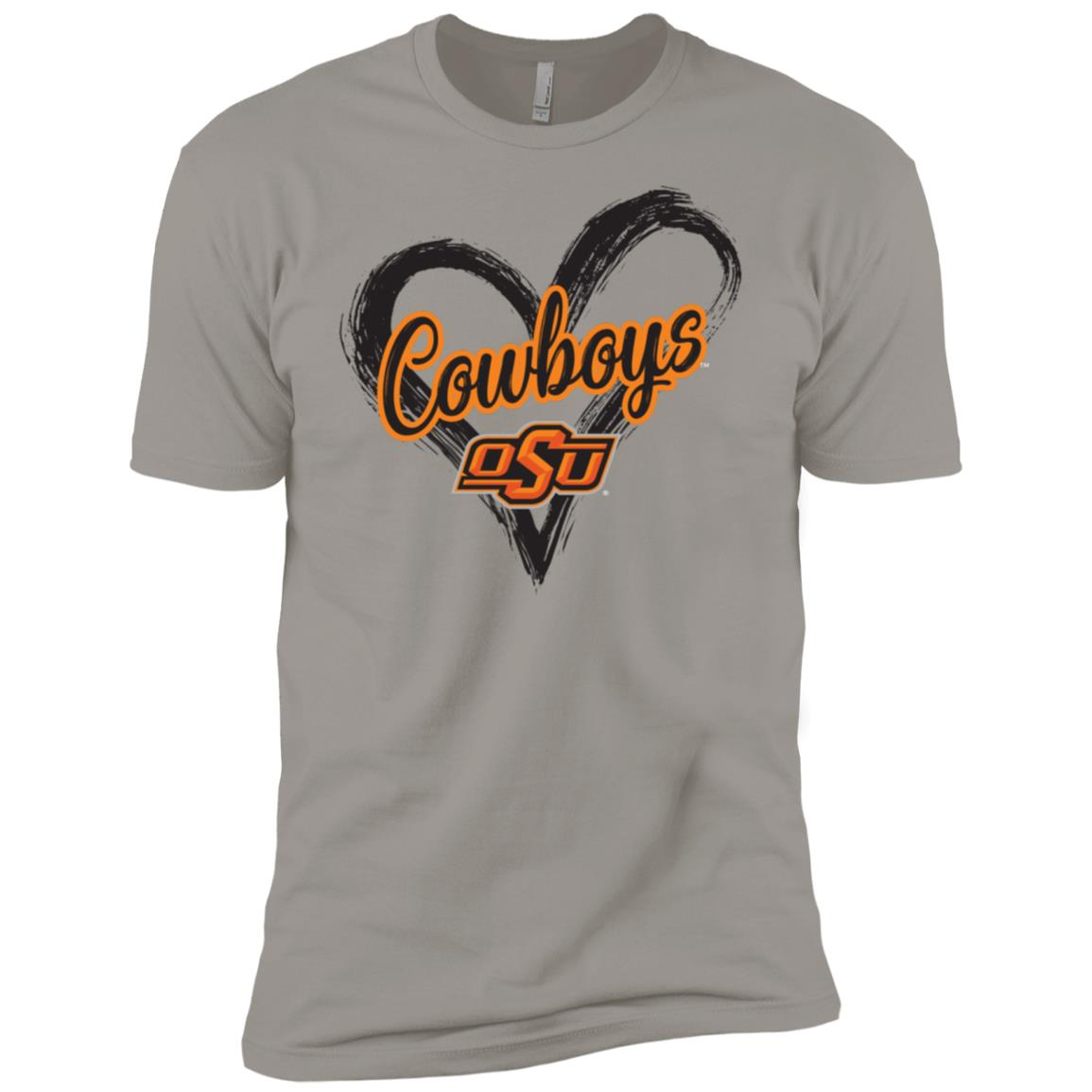 Oklahoma State Cowboys Drawing Heart -1 Men Short Sleeve T-Shirt