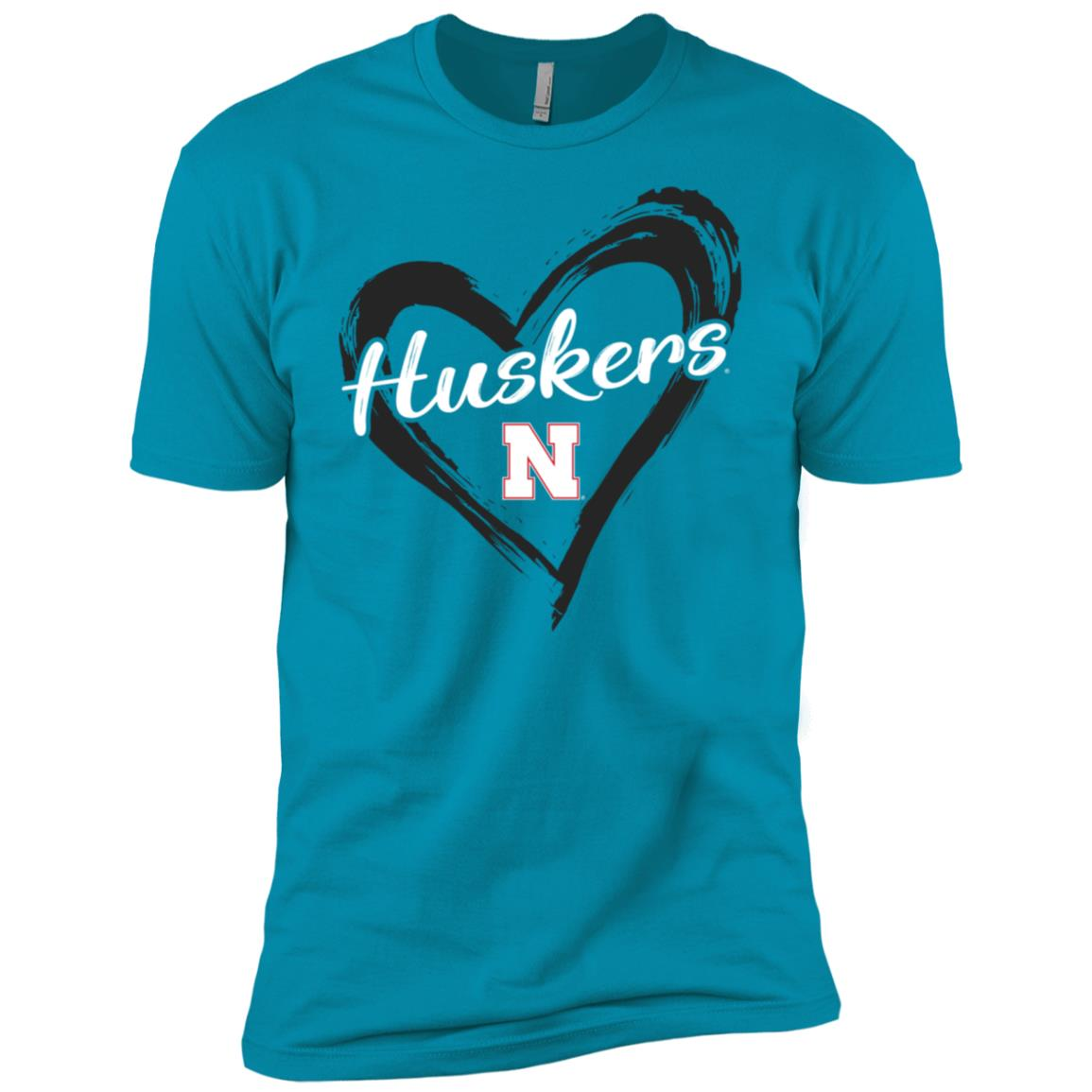 Nebraska Cornhuskers Drawing Heart – Men Short Sleeve T-Shirt