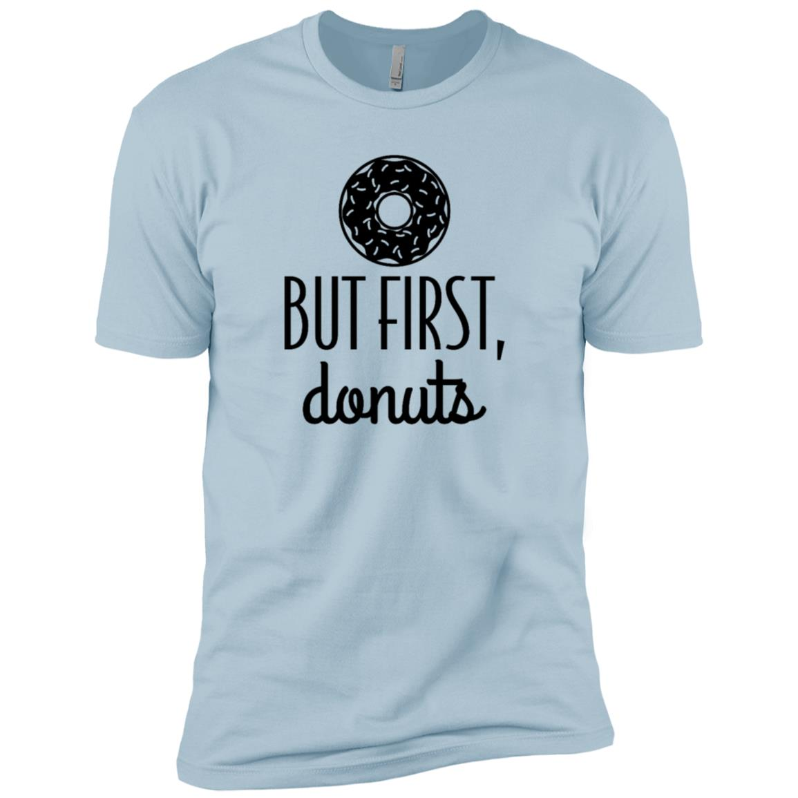 Donut But First Donuts Funny Food Graphic Men Short Sleeve T-Shirt