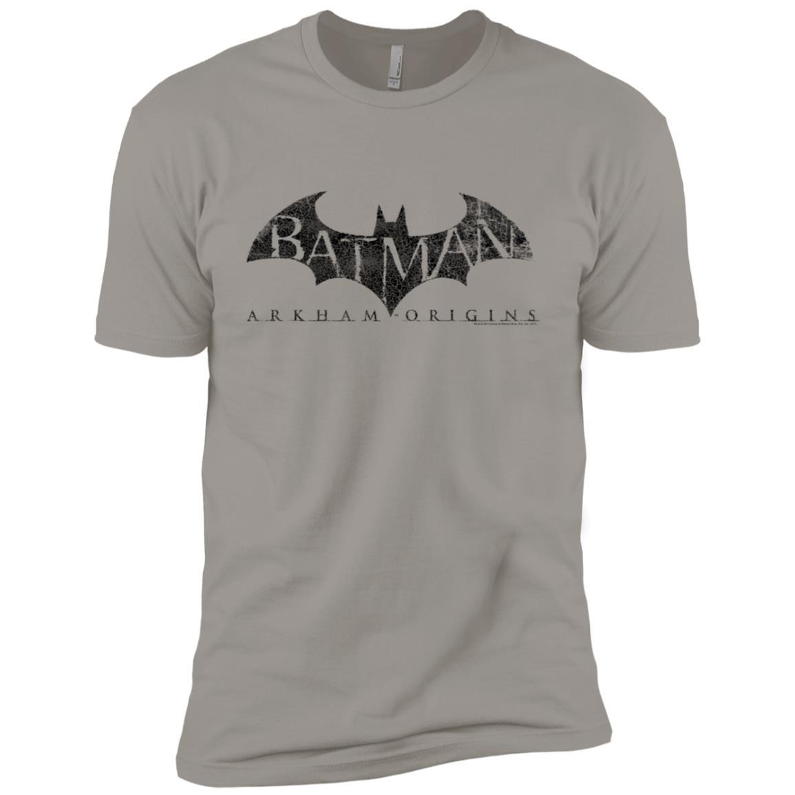 Batman Arkham Origins Crackle Logo -1 Men Short Sleeve T-Shirt