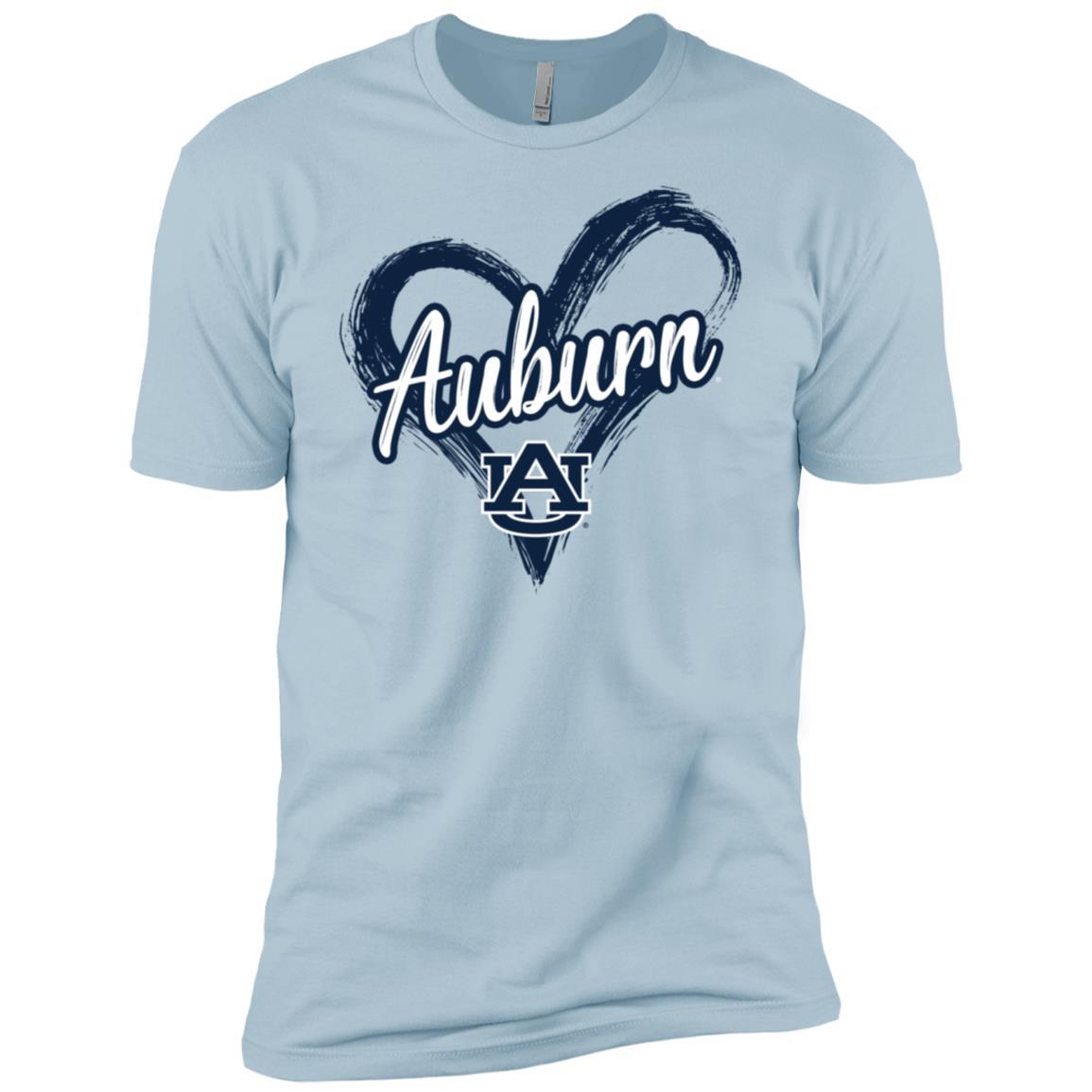 Auburn Tigers Drawing Heart – Men Short Sleeve T-Shirt