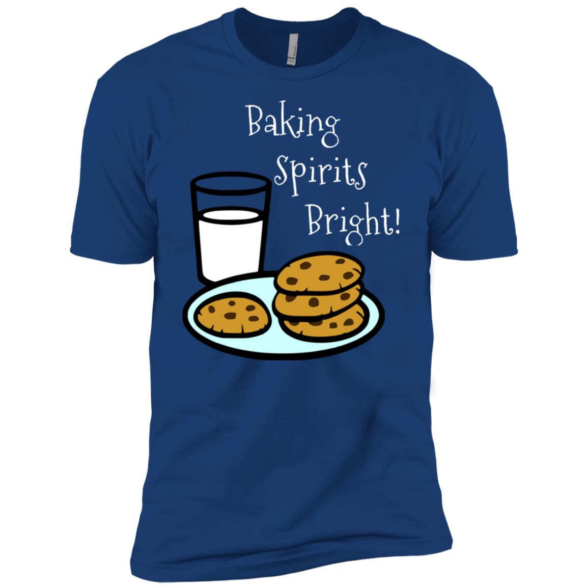 Baking Spirits Bright! Cookies and Milk Men Short Sleeve T-Shirt