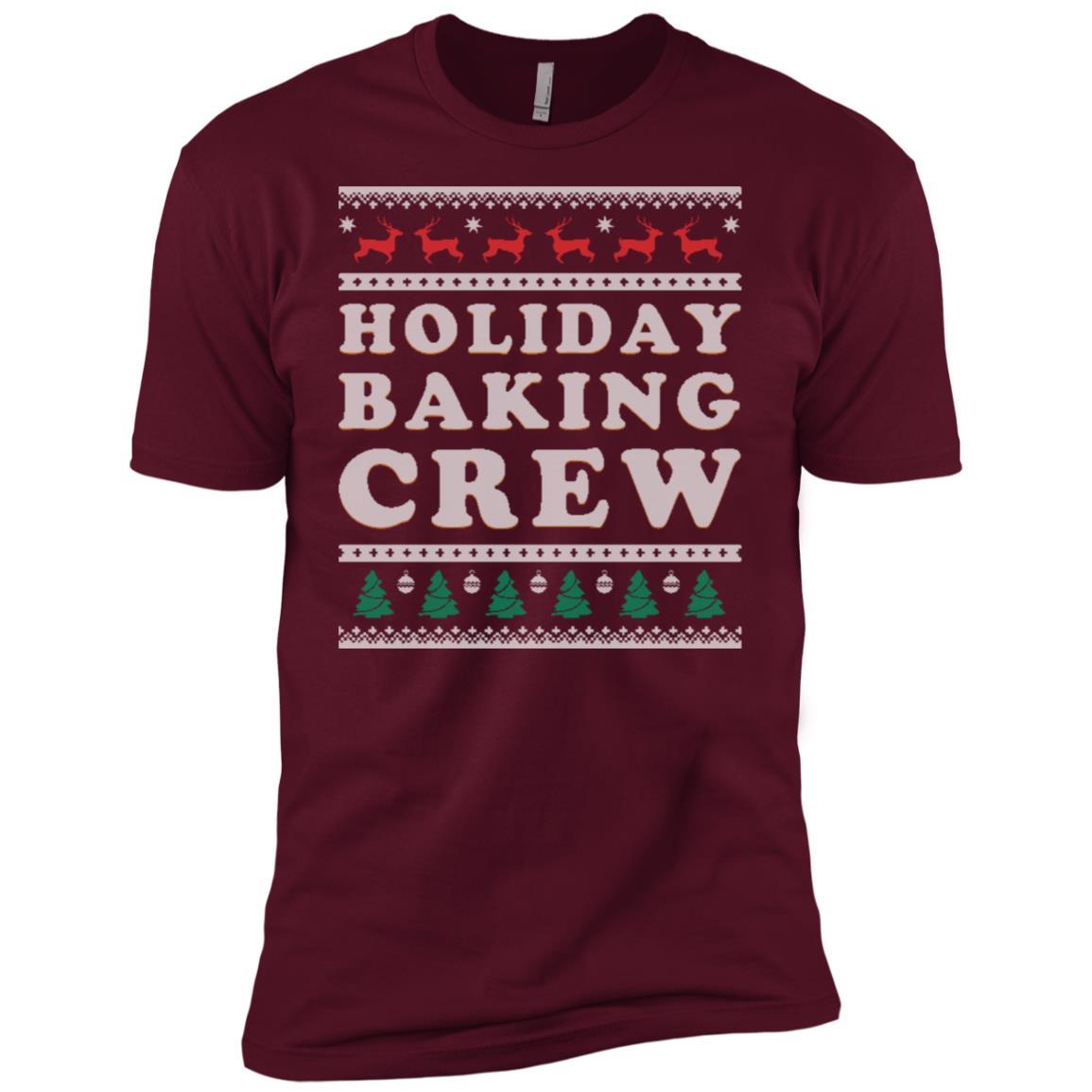 Baking Crew Ugly Christmas Gift For Baker Men Short Sleeve T-Shirt