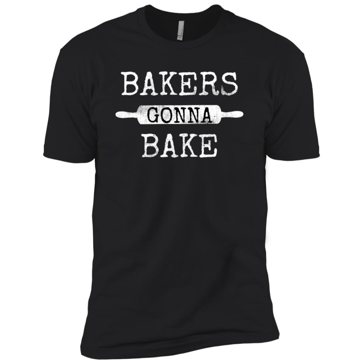 Bakers Gonna Bake Rolling Pin Baking Culinary Fun Men Short Sleeve T-Shirt