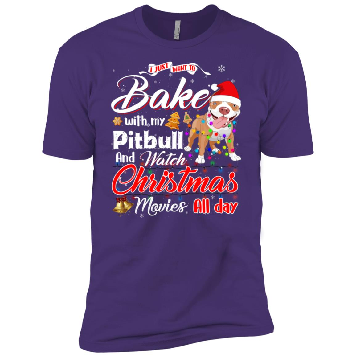 Bake Stuff with Pitbull Watch Christmas Movies Men Short Sleeve T-Shirt