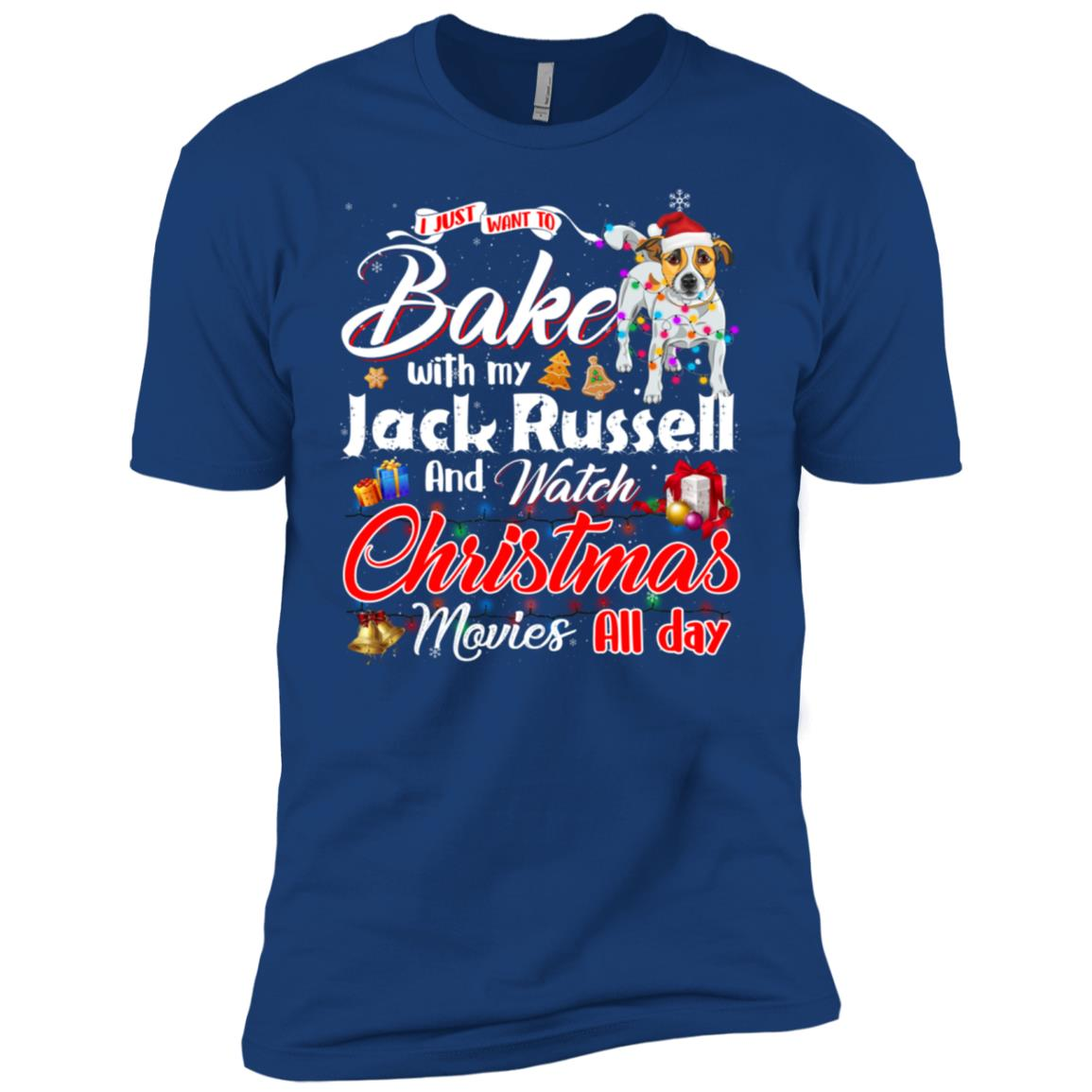 Bake Stuff with Jack Russell Watch Christmas Movies Long sle Men Short Sleeve T-Shirt