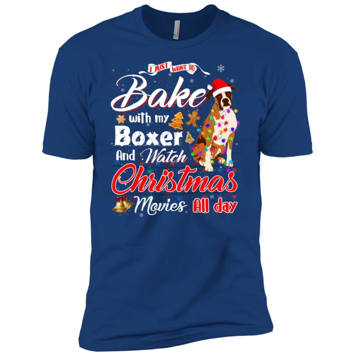 Bake Stuff with Boxer And Watch Christmas Movies Men Short Sleeve T-Shirt
