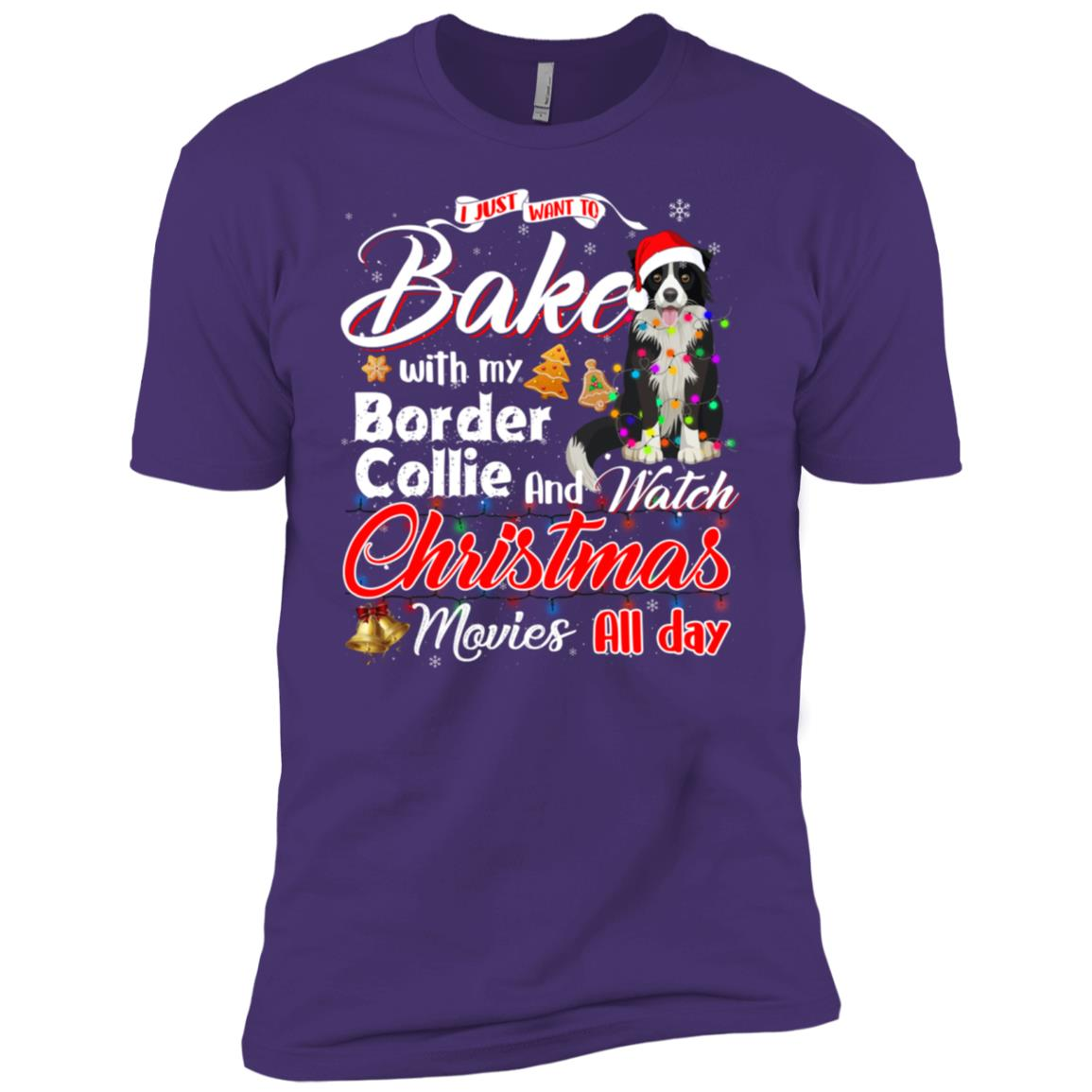 Bake Stuff with Border Collie And Watch Movies Men Short Sleeve T-Shirt
