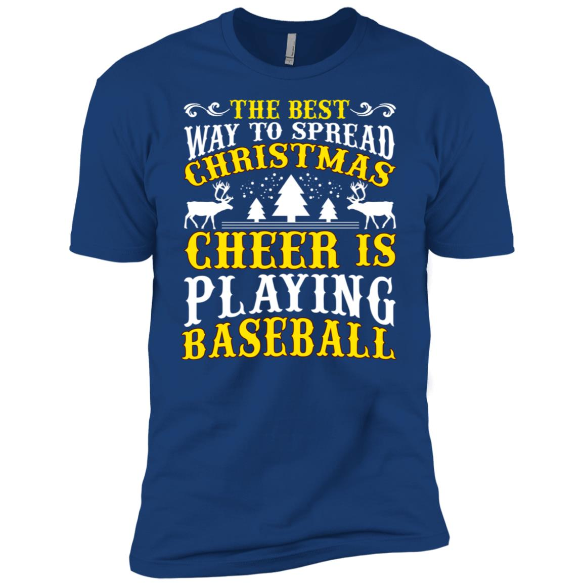 The Best Christmas Cheer Playing Baseball Men Short Sleeve T-Shirt
