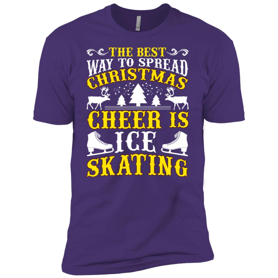 The Best Christmas Cheer Ice Skating Men Short Sleeve T-Shirt