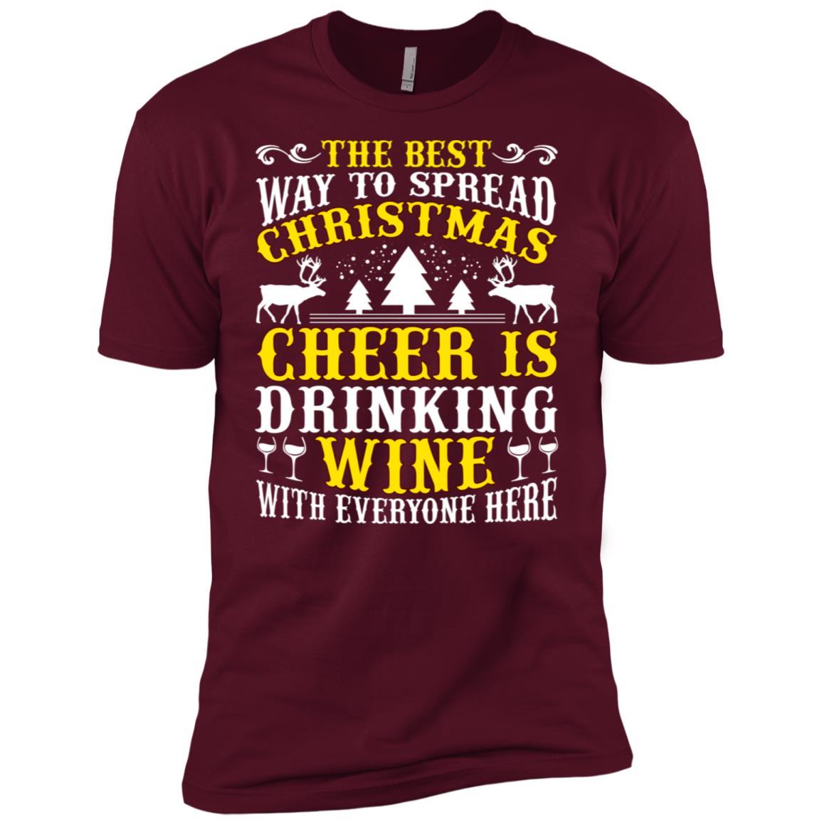 The Best Christmas Cheer Drinking Wine Men Short Sleeve T-Shirt