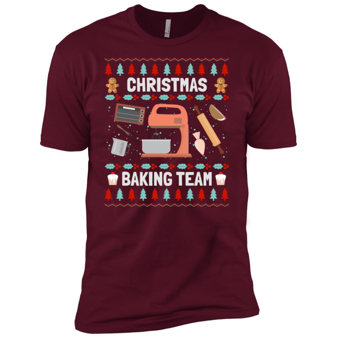 Christmas Baking Team Ugly Sweater Bakers Xmas Gifts Men Short Sleeve T-Shirt