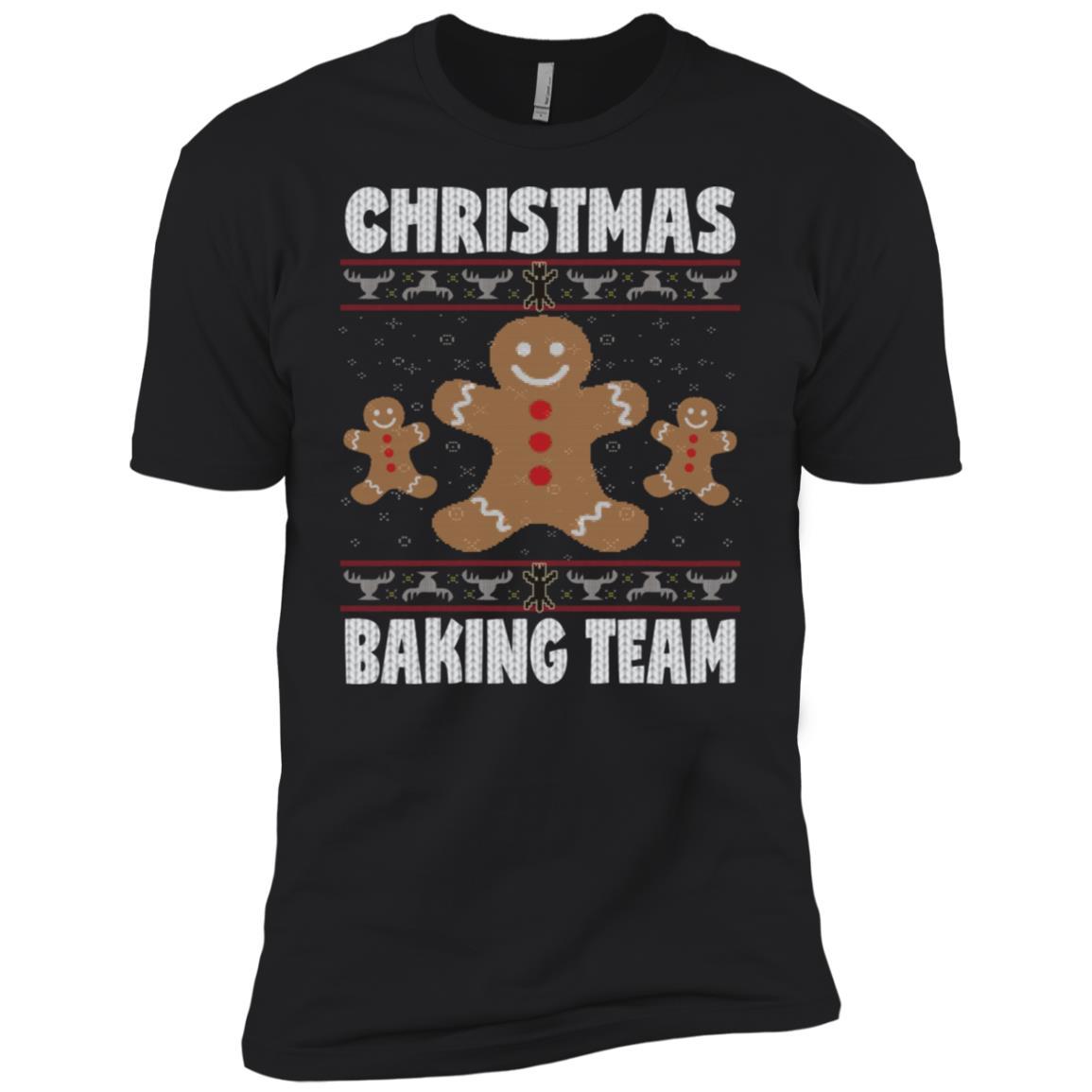 Christmas Baking Team Funny Ugly Sweater Xmas Gift Men Short Sleeve T-Shirt