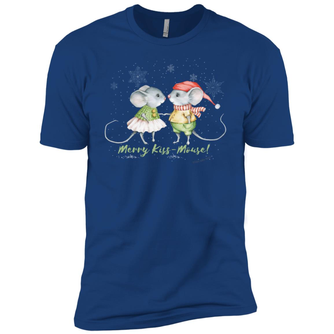 Christmas and Holiday Merry Kiss Mouse d Men Short Sleeve T-Shirt